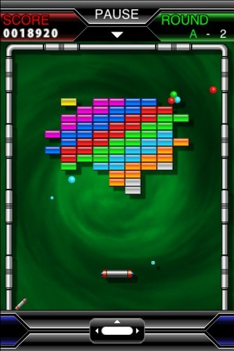 Arkanoid iOS game screenshot