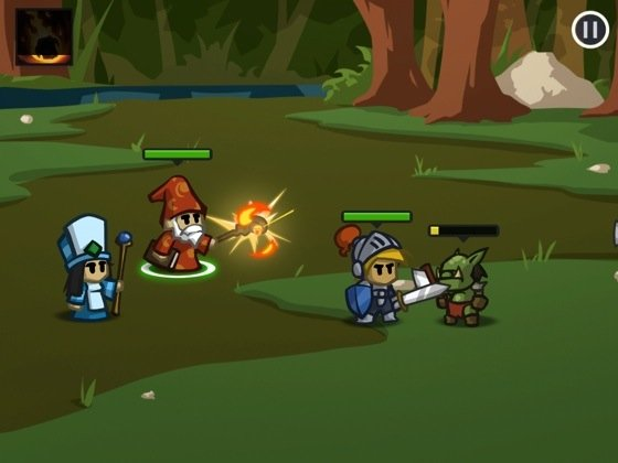 Battleheart iOS game screenshot