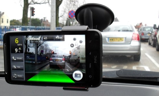 iOnRoad Augmented Driving app in action