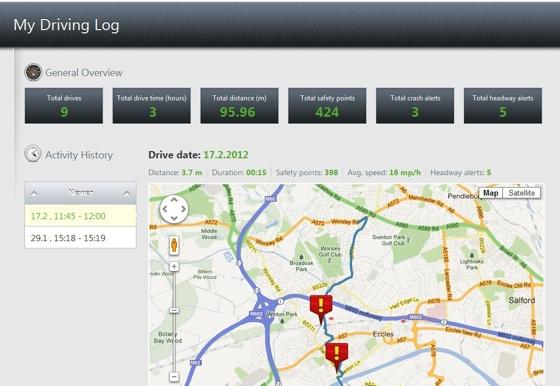 iOnRoad Augmented Driving app screenshot