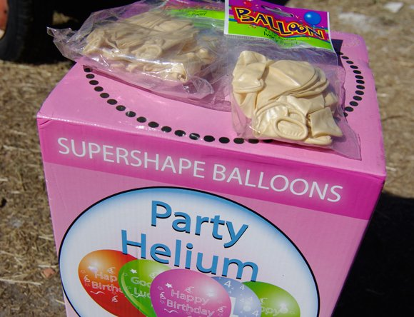 Our supply of helium and party balloons