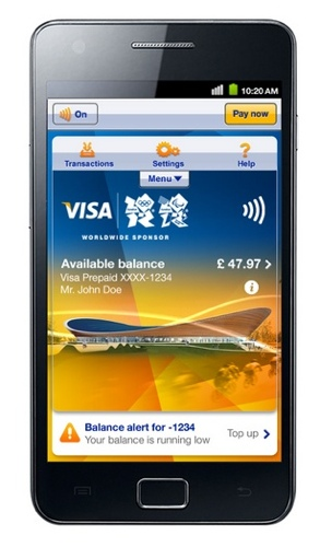 Samsung and Visa Olympics NFC app