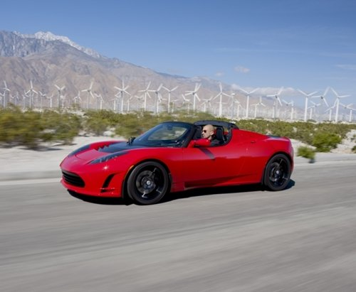 Tesla roadster with power