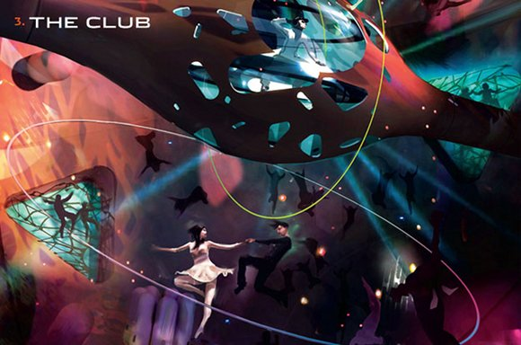 The zero-gravity dance club