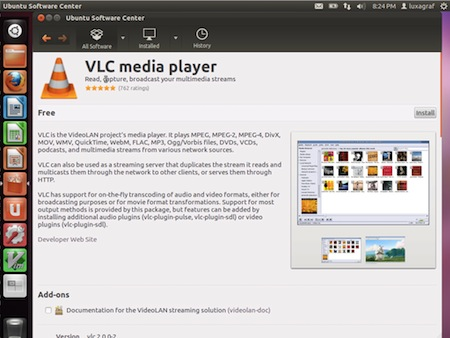 Ubuntu 12.04 software center