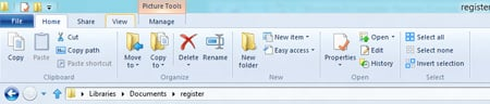 The Windows 8 explorer