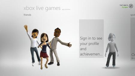 Xbox Live in Windows 8