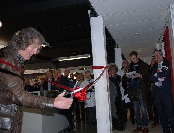 James May cuts the ribbon on the new Alan Turing exhibition