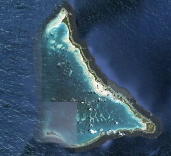 Satellite image of Tarawa as seen on Google Earth