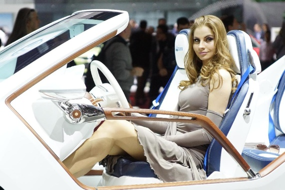 Geneva Motor Show visitor