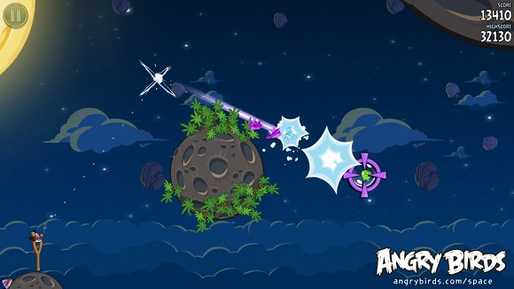 Gameplay from Angry Birds Space