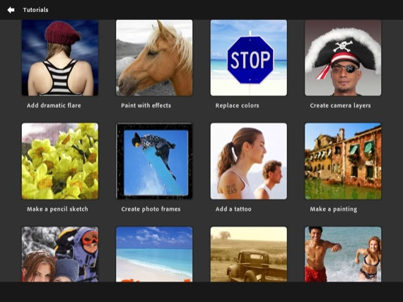 Adobe Photoshop Touch ios app screenshot