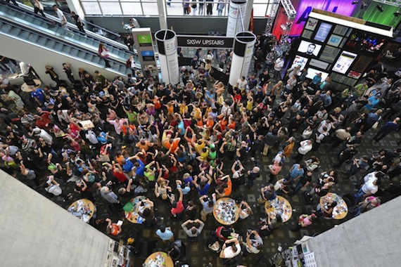 A flashmob at SXSW 2011, credit SXSW