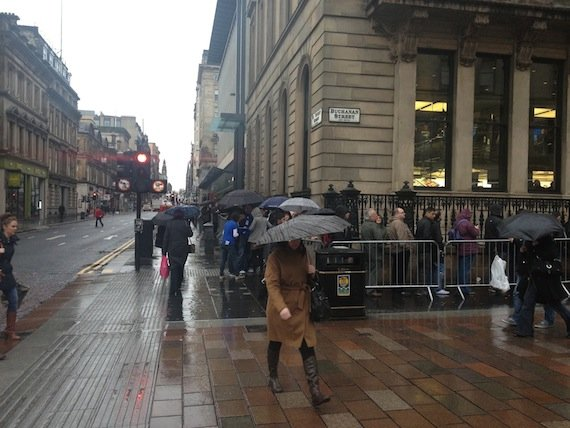 Queue in Glasgow, credit Joseph Heaney