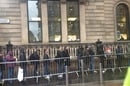 The iPad queue London, credit The Register