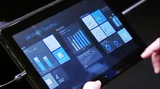 Microsoft ERP system demo at Convergence 2012