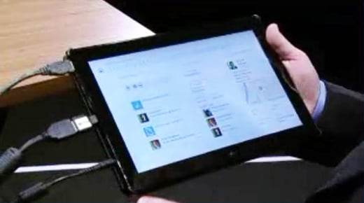 Microsoft ERP system demo backup tablet at Convergence 2012