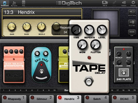Digitech iPB-10 guitar effects pedalboard for iPad