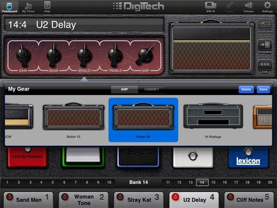Digitech iPB-10 guitar effects pedalboard for iPad