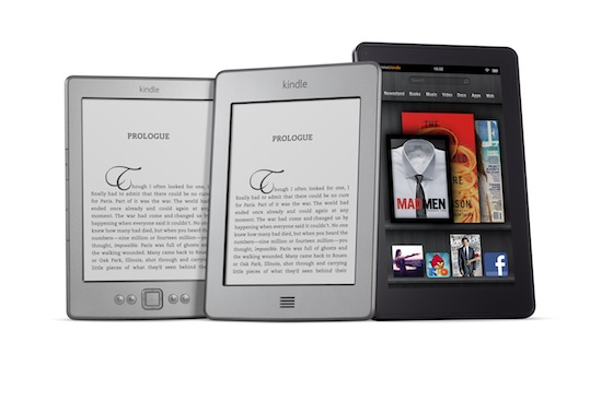 Kindles, credit Amazon