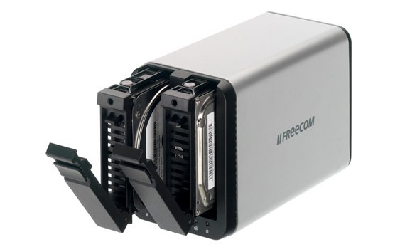 Freecom SilverStore dual-bay NAS drive