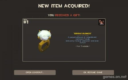 Team Fortress 2 engagement ring