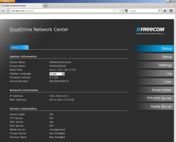 Freecom Dual Drive Network Centre dual-bay NAS d