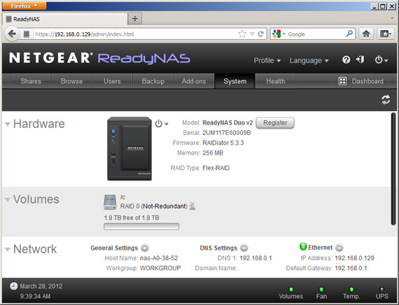 Netgear ReadyNAS Duo V2 dual-bay NAS drive