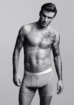 David Beckham poses for his Bodywear range. Pic: H&M