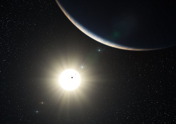 Artist's impression of the planetary system around HD10180