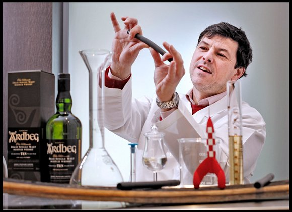 Ardbeg head distiller Dr Bill Lumsden in his lab