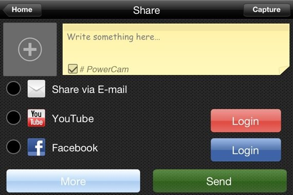 Wondershare PowerCam ios app screenshot