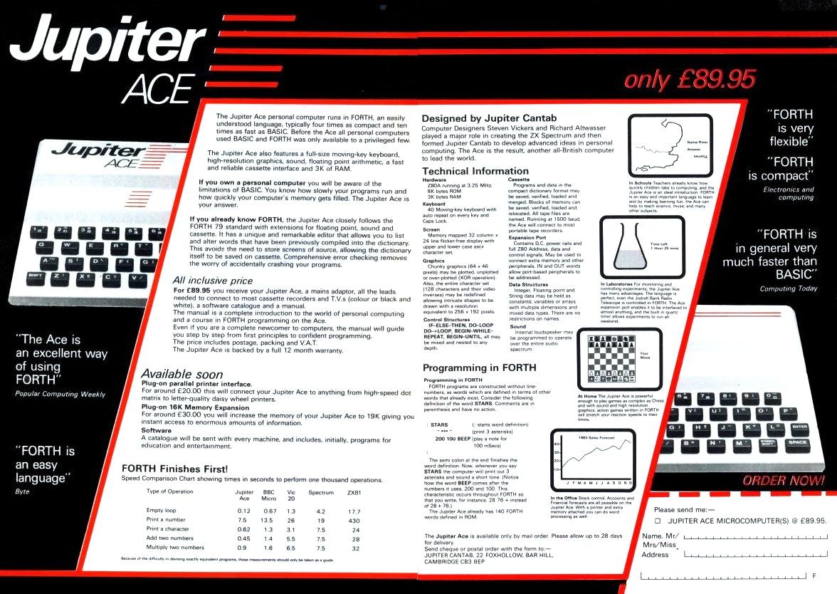 Jupiter Ace ad
