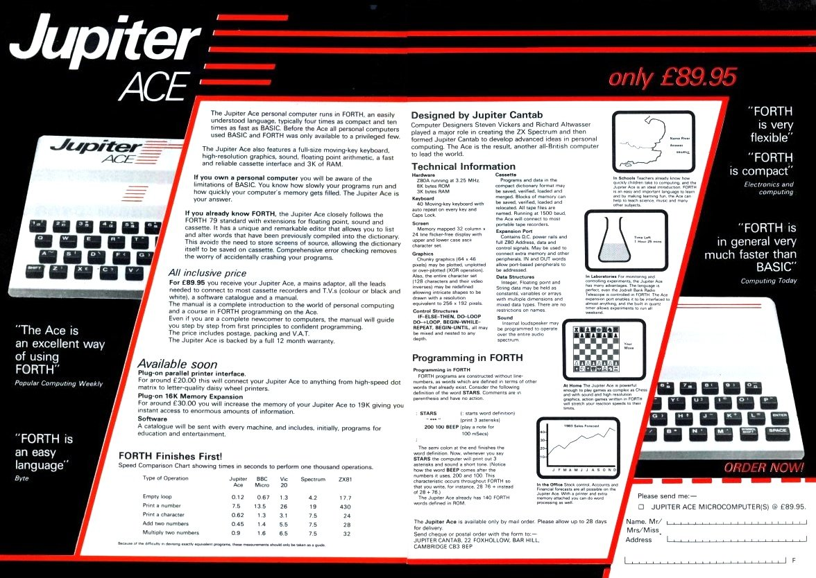 Jupiter Ace adver