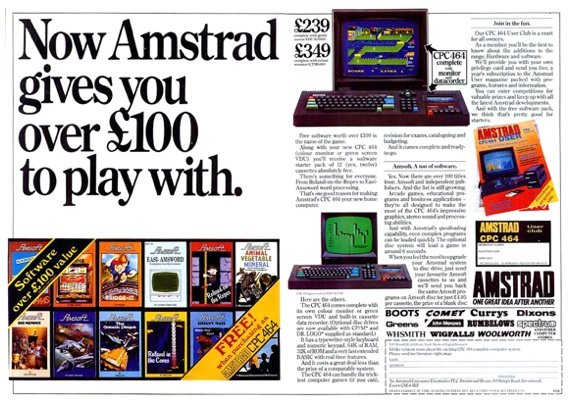 Amstrad CPC 464 advert