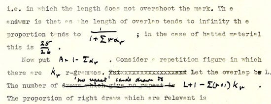 Excerpt from Turing paper, credit: National Archive