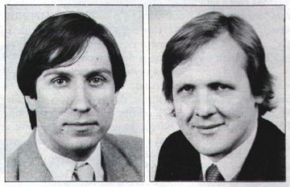 Roger Wilson and Steve Furber in the mid-1980s