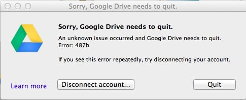 Google Drive error