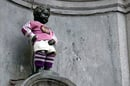 Manneken pis wears football kit. Source: James Cridland, Flickr