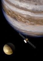 An artist's impression of the ESA's JUICE probe