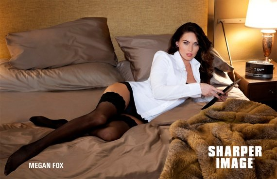 Megan Fox for Sharper Image