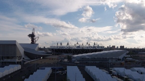 view from cisco house over olympic park