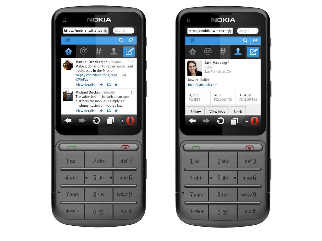 Twitter's new mobile interface