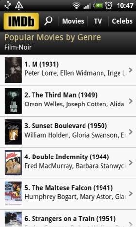 IMDb Android app screenshot