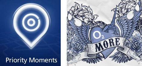 O2's two discount logos