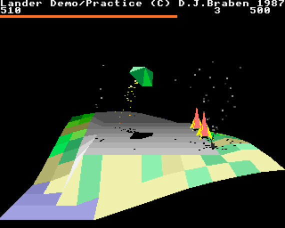 David Braben's Lander from the Archimedes demo disk