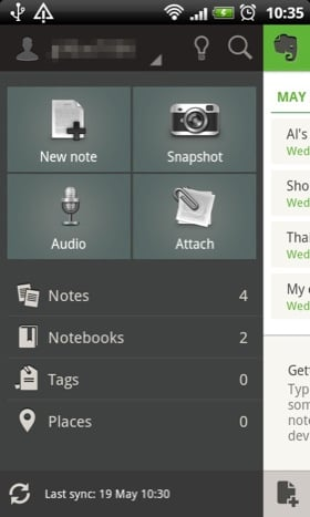Evernote Android app screenshot