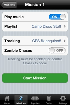iOS app Zombies Run screenshot
