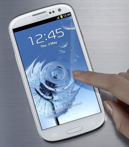 A Samsung Galaxy S3