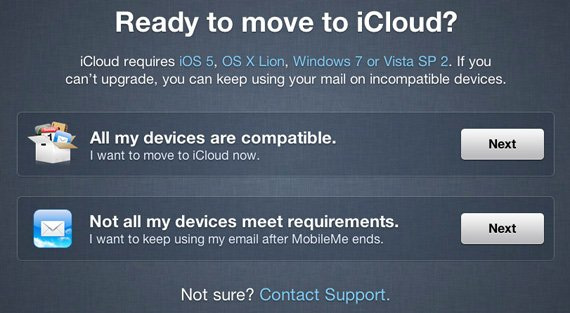 Apple iCloud ready prompt